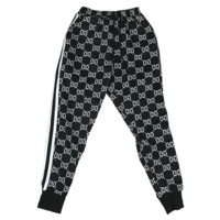 GUCCI New fashion more letter print stripe couple loose leisure pants trousers Black