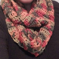 Classy, Fashionable, Trendy, Women's Multi color infinity scarf.