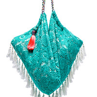 Sunset Beach Bag in Turquoise