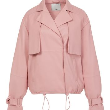 Tibi Tissue Leather Moto Jacket