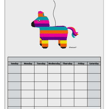 Colorful Hanging Pinata Design Blank Calendar Dry Erase Board by TooLoud