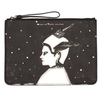 Patched Astronauts Zip Pouch