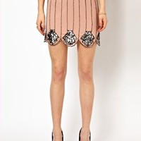 Frock and Frill Scallop Edge Skirt with Sequin Embellishment at asos.com