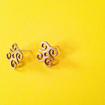 DWENNIMMEN Adinkra Stud Earrings// African Symbol Earrings, African Earrings, Adinkra African Symbols, Afrocentric Jewelry, African Jewelry