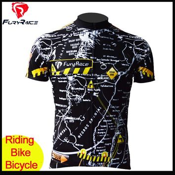 Fury Race Men High Quality Riding Cycling Jerseys MTB Bike Jersey Bicycle Maillot Roupa Downhill Jersey Summer MTB Clothing