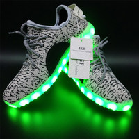 LED Light Shoes 2016 Fashion Men & Women Lighted Shoes for Adults USB Charging Colorful LED Light up Glowing Shoes