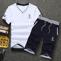 Summer Casual Stylish Korean Slim Outdoors Men Set [6542474947]