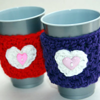 Coffee cup cozies set of two great stocking stuffer gift for the coffee lover