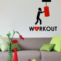Wall Vinyl Decal Sticker Art Design Boxing Sport Workout Sign Room Nice Picture Decor Hall Wall Chu1305