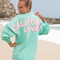 California Love - Mint Paisley Preppy Print Spirit Football Jersey®