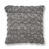KAS Black & White Knit Decorative Throw Pillow | Overstock.com Shopping - The Best Deals on Throw Pillows