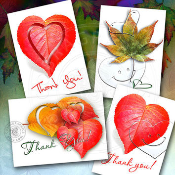 Thank You cards Digital Collage Sheet CG-707 Printable Instant Download for Gift Cards, Jewelry Holders, Card making accessories, Hang Tags