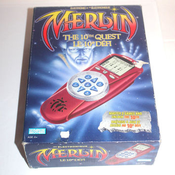 NIB Vintage 1995 Electronic Merlin Game, The 10th Quest, Parker Brothers, Hasbro, Antique Alchemy