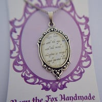 William Shakespeare, A Midsummer Night's Dream quote necklace