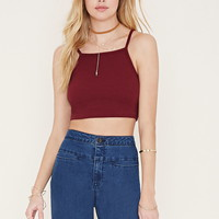 Cotton-Blend Cropped Cami