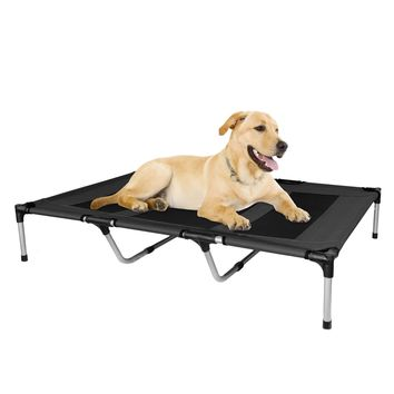 Elevated Dog Bed Portable Indoor Outdoor Garden Extra Large Black