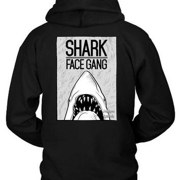 Macklemore And Ryan Lewis Shark Face Gang Posters Grayscale Hoodie Two Sided