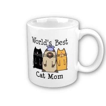 World's Best Cat Mom Mugs from Zazzle.com