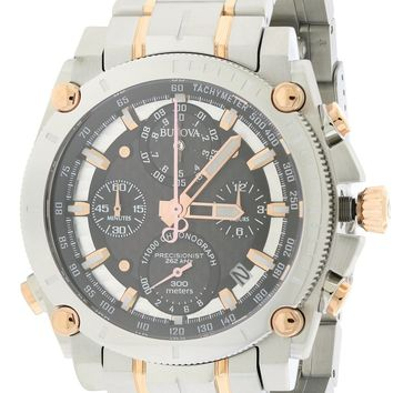 Bulova Precisionist Chronograph Two-Tone Watch 98G256