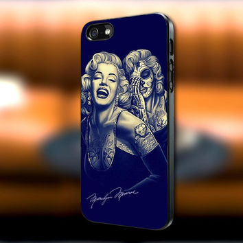 Marilyn Monroe Day Of The Dead iPhone case, Marilyn Monroe Day Of The Dead Samsung Galaxy s3/s4 case, iPhone 4/4s case, iPhone 5 case