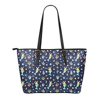Corgi Mermaid Tote Bag