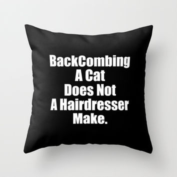 The BackComber Throw Pillow by Moop
