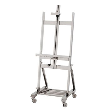 Silver TV Easel on Wheels | Eichholtz