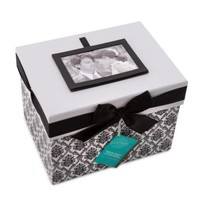 Keepsake Card Box Black and White - Davids Bridal