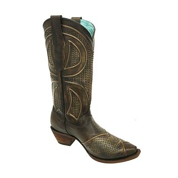 Corral Maple Laser Cut-Out Boots C3136