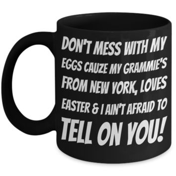 Black Ceramic Affordable Grandma Mug Coffee Easter Holiday Gift Mugs Coffee Funny Sayings Cup For New York Grandparents Easter Bunny Chocolate Jar From Grandkids New York
