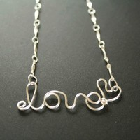 Love Wire Necklace  on Luulla