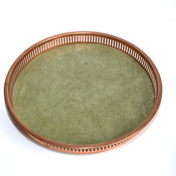 Serving Tray Copper Tray Bar Tray Gallery Tray Coppercraft Guild Tray Copper Reticulated Tray