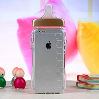Baby milk bottle silicone cell phone Case for iPhone 5 5S 6 6s 6plus 6s plus + Nice gift box!