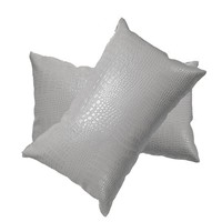 Giddens Croc Faux Leather Lumbar Pillow