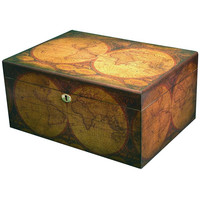 Old World Quality Desktop Humidor - Holds up to 100 Cigars
