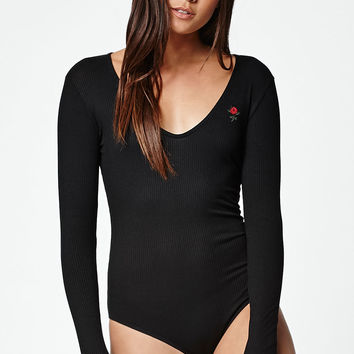 LA Hearts Rose Ribbed Long Sleeve Bodysuit at PacSun.com