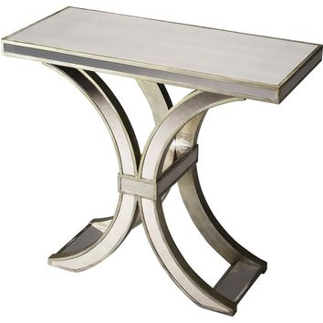Butler Stefano Mirrored Console Table