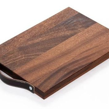 Hardwood Sapele Serving Board - Handmade, Recycled, Zero Waste Gift with profits going to planting trees in impoverished areas