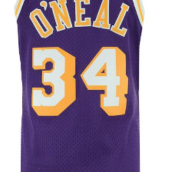 Los Angeles Lakers Shaquille ONeal Mitchell & Ness NBA Mens Hardwood Classic 1996-97 Swingman Purple Jersey