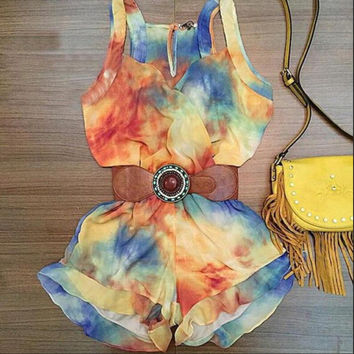 Stylish Casual Sleeveless Summer Romper [6315476353]
