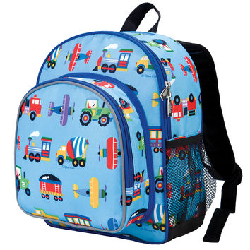 Olive Kids Trains, Planes & Trucks Pack 'n Snack Backpack - 40078