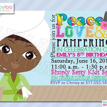 Spa Birthday Invitations: 252
