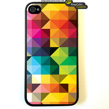 iPhone 4 Case Geometric Triangles iPhone Case by KeepCalmCaseOn
