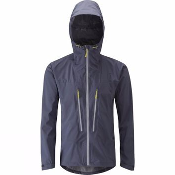 Men's Hooded Lightweight Rain Jacket Water Resistant Shell Outdoor Cycling Running Hiking Breathable Mountaineer Travel Raincoat