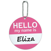 Eliza Hello My Name Is Round ID Card Luggage Tag