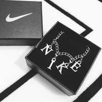 NIKE New Fashion Hot Sale alloy Necklace C-AA-XDD Silver