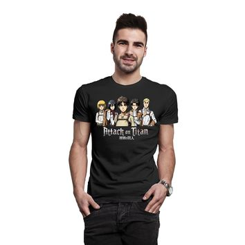 Cool Attack on Titan  Gang Anime Japanese Manga Official Unisex Hip Hop Novelty T Shirts Men'S Brand Clothing top AT_90_11