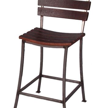 "Wine Barrel Stave Bar Stool 24"" 2 Day Designs 40875"