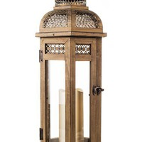Amazing Flameless Candle Wood Lantern & All-Weather Flameless Candle   Nordstrom