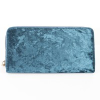 Velvet Finish Wallet Blue